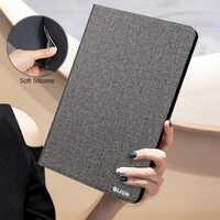 Funda de tableta para HUAWEI MediaPad M3 Lite, Funda protectora suave de silicona de cuero PU con soporte abatible Retro CPN-L09/W09/AL00 de 8,0 pulgadas