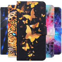 Schmetterling Leder Flip Fall Für Xiaomi Redmi 9T 9A 9AT 9 9C Hinweis 9 8 10 Pro 5A Prime 8T 9S S2 Gehen Mi A1 A3 A2 10T 9 11 Lite Abdeckung