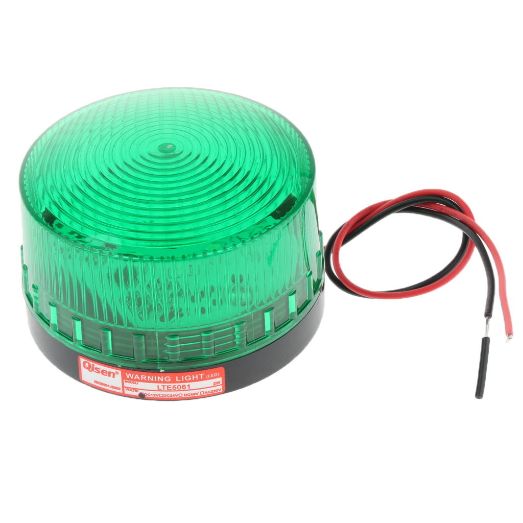 12V Flash Strobe / Always On Warning Light Round Signal Beacon Lamp Green