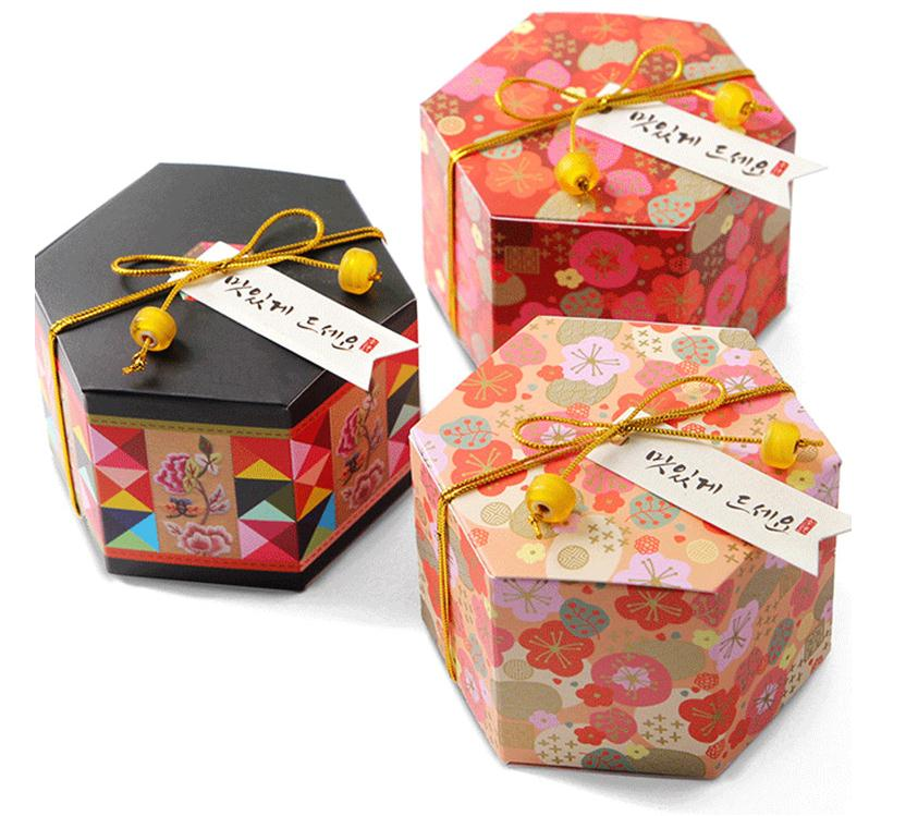 5PCS Hexagon Paper Candy Bag Gift Box Candy Container For Party Children Wedding