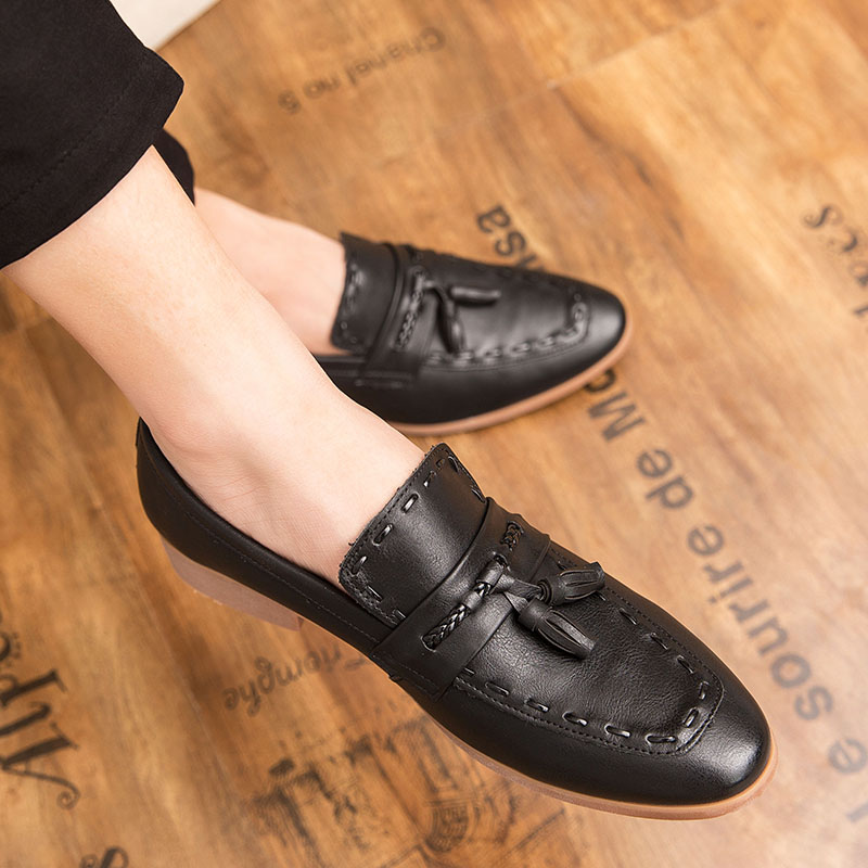 Men Casual Shoes Breathable Tassel Leather Loafers Business Office Shoe For Man Driving Moccasins Slip-On Luxury Brand
