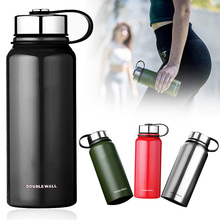 цены Stainless Steel Water Bottle Hydro Flask Water Bottle Vacuum Insulated Wide Mouth Travel Portable Thermal Bottle