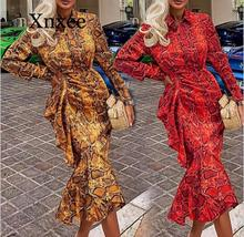 2020 trumpet 2019 Women Blouses Long Sleeve Elegant Sexy Snake pattern Print Blusas Casual Shirt Asymmetric Long Tops Plus Size 2019 women tops and blouses fashion lapel long sleeve casual shirt blusas femininas women lace flower shirts women clothing