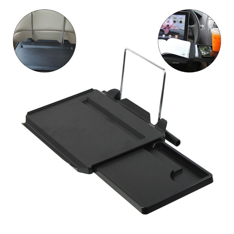 1pc Car Drawer Type Computer Desk With Mouse Disk Computer Frame Car Table Stand Holder Auto Food Drink Cup Holder