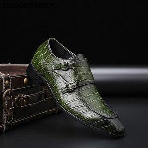 Image 3 - คู่ Monk รองเท้าธุรกิจรองเท้า Oxford รองเท้าสำหรับผู้ชาย Zapatos De Hombre Italiano Chaussure Homme Mariage Chaussure Homme