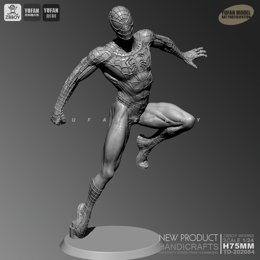 1/24 Resin Kits Spider Hero Resin Soldier Self-assembled TD-202054