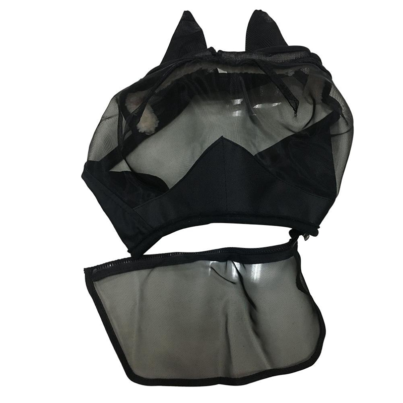 Dropship-Horse Detachable Mesh Mask Horse Fly Mask Horse Full Face Mask Anti-Mosquito