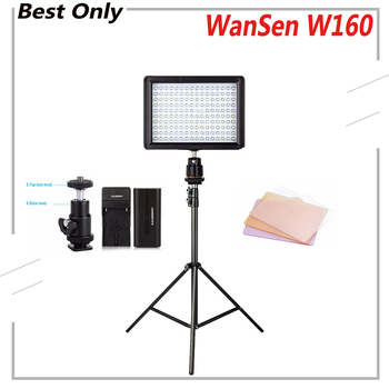 цена на WanSen W160 LED Video Camera Light Photo For Canon Nikon Sony DSLR Camera same With CN-160 Photography Lighting Daylight Lamp