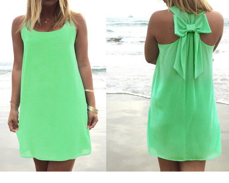 Летнее платье, Летний стиль, Женский Повседневный Сарафан размера плюс, женская одежда, Пляжное платье, шифоновое женское платье - Цвет: Dark green