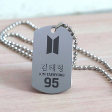 Kpop bangtan boys Jin SUGA J-hope etc Stainless Steel ''Name'' ''Year'' Necklace For Women Men Jewelry Fans