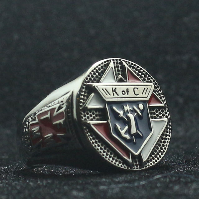 STAINLESS STEEL KNIGHTS OF COLUMBUS RING