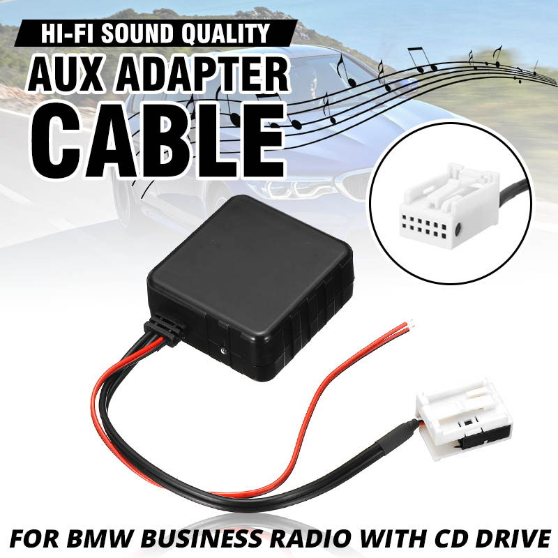 Upgraded <font><b>12V</b></font> Car <font><b>bluetooth</b></font> 5.0 Module <font><b>AUX</b></font> Cable <font><b>Adapter</b></font> Audio Radio for BMW E60 E63 E65 E66 E81 E82 E87 E70 E90 E91 E92 E93 image