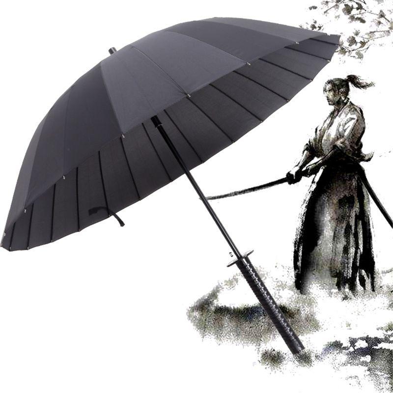 Ev ve Bahçe'ten Şemsiye'de Yeni samuray kılıcı kolu şemsiye Ninja Katana japon uzun şemsiye title=