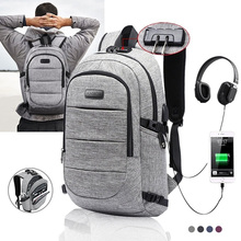Hot Sale Fashion Male Casual Oxford Backpack Waterproof Laptop Business Backpacks Men Women Travel USB Charging Anti theft Bag