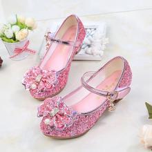 Kids Shoes Princess Sandals Party-Dress Glitter Wedding-Dance High-Heel Girls for Fashion