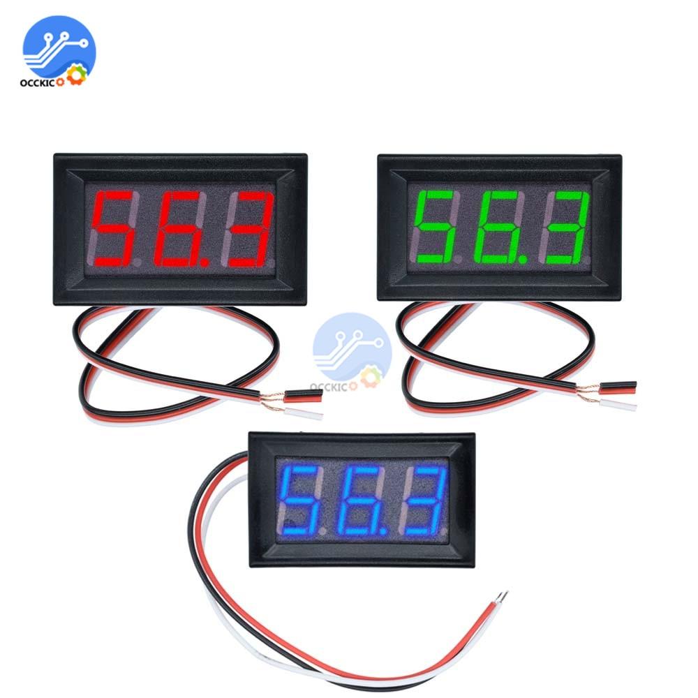 DC 0-100 V LED Digital Voltmeter LED Fahrzeuge Motorspannung Panel Meter