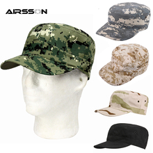 Tactical Cap Military Army Camo Hunting Caps Men Adult Camouflage Hat Outdoor Sports Cycling Hiking Fishing Adjustable Sunhat