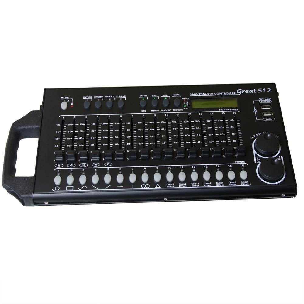 Nuevo 512 canales controlador dmx dj equipamiento DMX 512 consola de iluminación para escenario para LED Par se reflectores con cabeza de rotación DJ luz de Control Tuya ZigBee, dispositivo inteligente para hogar con entrada, dispositivo compatible con aplicación add, Control de luz inteligente ZigBee 3,0, mando a distancia inalámbrico