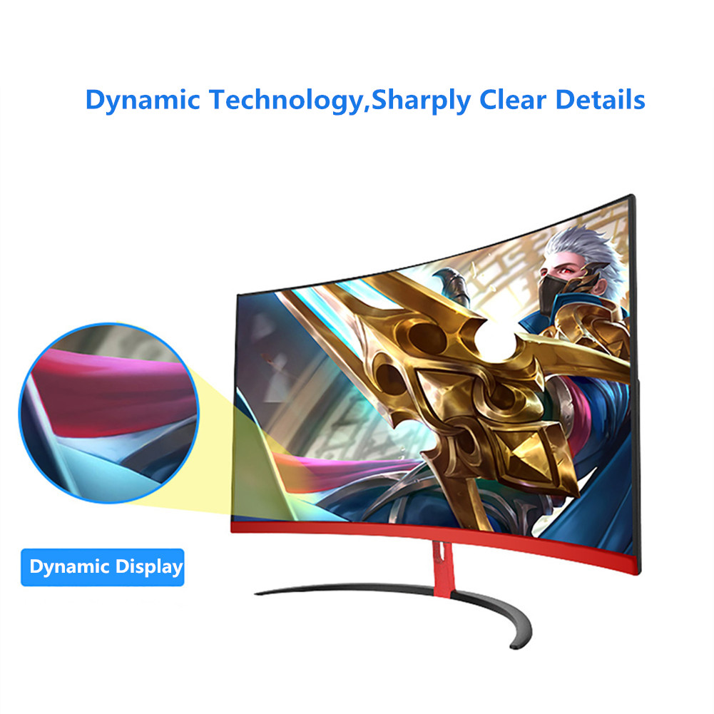 Wearson 1800R 32 дюймов изогнутый широкий экран ЖК монитор для игр флексоральная панель 2 мм боковая Рамка меньше HDMI VGA вход без мерцания - 3