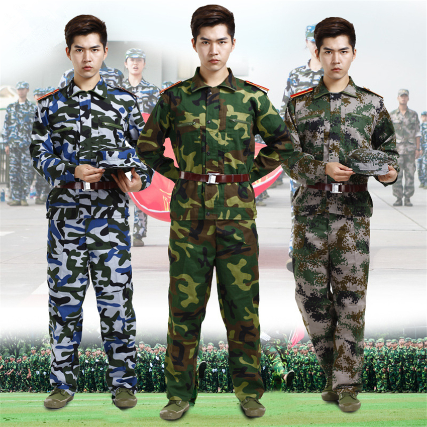 Military Uniform Tactical Camouflage Combat Clothing Men Army Special Forces Soldier Training Work Wear Adult Clothes Pant Set image