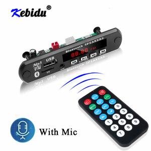 Image 1 - Kebidu bluetoothハンドフリーカーキットMP3プレーヤーデコーダボードfmラジオのtf usb 3.5ミリメートルauxオーディオ車のためiphone android携帯