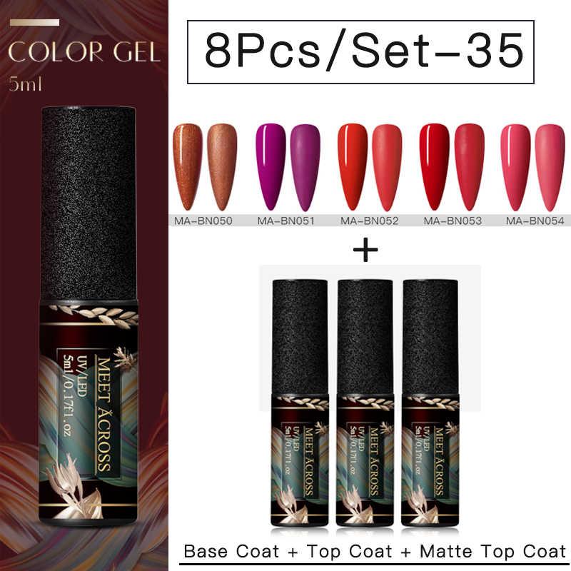 Kit de vernis à ongles Gel 8 pièces/ensemble ensemble de vernis à ongles LED UV pour manucure Kit de vernis à ongles Gel mat
