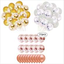 20pcs Hot Sale Rose Gold Confetti Balloons Balloon Package 20 Sequins Latex