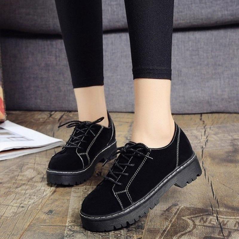 Осенние женские замшевые туфли-лодочки; повседневная обувь на низком квадратном каблуке со шнуровкой; удобная женская обувь с круглым носк...,