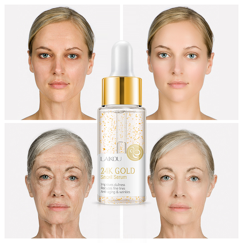 24K GOLD Snail Essence Face Cream Hyaluronic Acid Anti-aging Moisturizer Nourishing Collagen Essence Women Skin Care Cream TSLM1