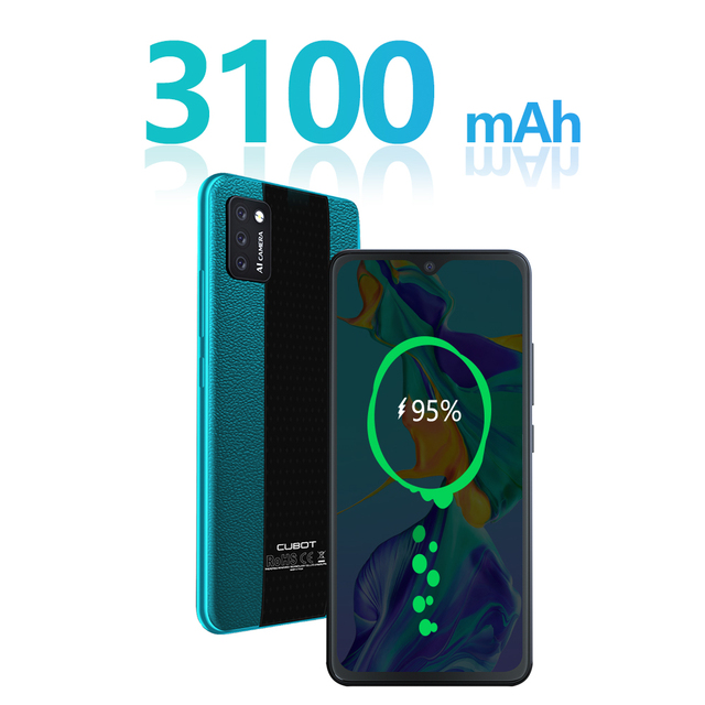 "Cubot Note 7 Mobile Phone Android 10 Triple Camera 13MP 4G LTE Dual SIM Card Celular 5.5"" Screen 3100mAh Smartphone Face Unlock"