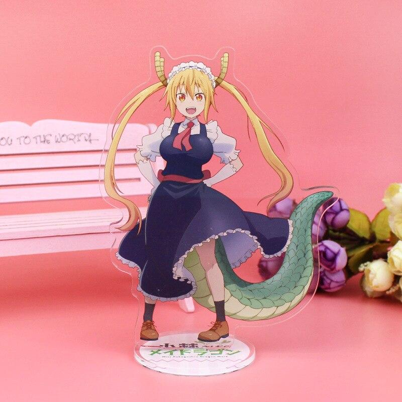 Anime Miss Kobayashi's Dragon Maid Display Stand Plate Kobayashi San Chi No Maid Dragon Cartoon Figure Acrylic Stand Model