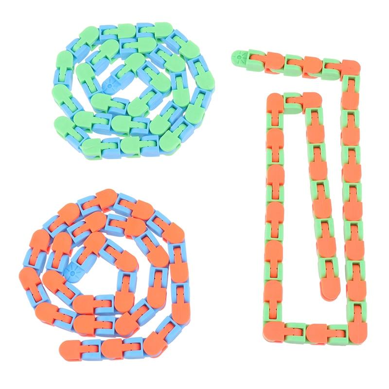 1pc Wacky Tracks Snap And Click Fidget Toys Kids Autism Snake Puzzles Classic Sensory Toy