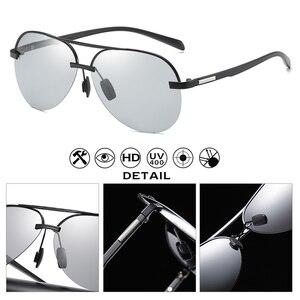 Image 5 - 항공 선글라스 남자 편광 된 브랜드 데이 나이트 비전 운전 안경 여성 photochromic sun glasses 남성 uv400 oculos de sol