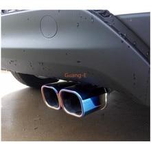 Для hyundai Tucson Автомобильная рамка глушитель внешняя Концевая труба посвящает выхлопной наконечник из нержавеющей стали Хвостовая розетка 1 шт
