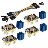 TMC2130 V3.0 StepStick Stepper Motor Motorista com Dissipador de Calor para a Placa de Controle Da Impressora 3D Mute Silencioso 4 Packs (SPI) Peças e acessórios em 3D     -