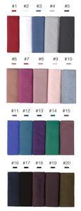 Image 2 - Jersey rughe hijab sciarpa in cotone tinta unita elasticità scialli piega hijab lungo musulmano testa wrap sciarpe/sciarpa 10 pz/lotto