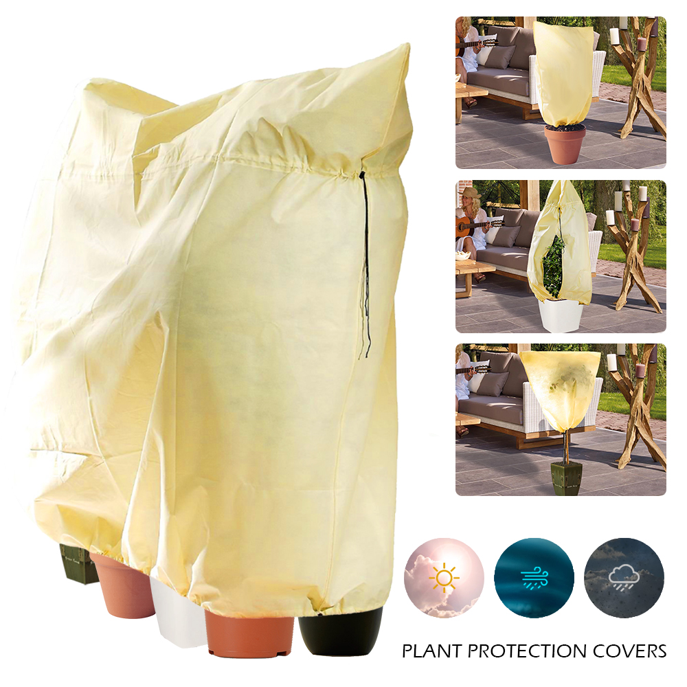 Plant Cover Warm Cover Tree Shrub Plant Protecting Bag Frost Protection Yard Garden Decor Winter Protection Against Cold