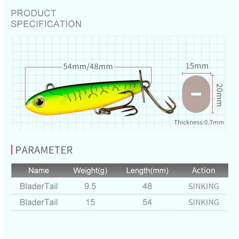 Kingdom BLADERTAIL VIB เหยื่อตกปลาตะกั่ว Jigging Hard Lure หางการสั่นสะเทือนผลิตเสียง Sinking เหยื่อประดิษฐ์ Wobblers