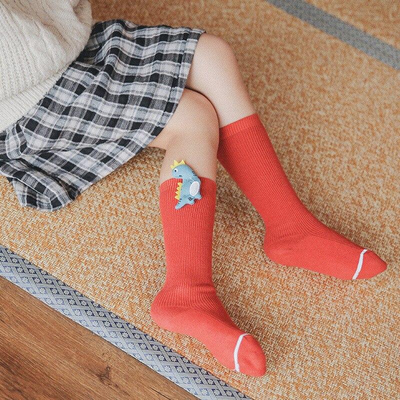 Baby Socks for Girls Cotton Knee High Socks Girl Casual Children's Socks for Boys Cute Cartoon Socks for Boy Autumn Winter Style 2