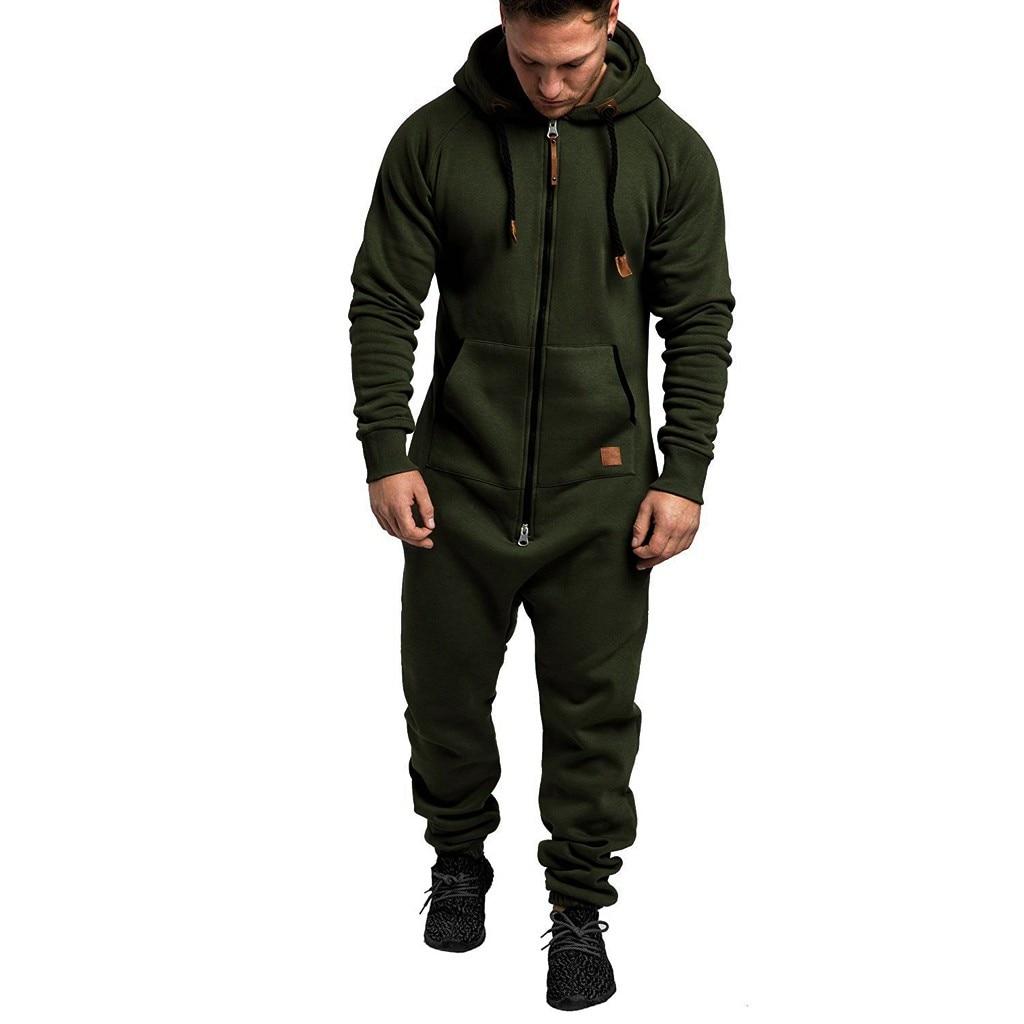 Jumpsuit Men Quality Pajamas Onesie Adults Winter Homebre Splicing Casual Hoodie Print Zipper Print Sleepwear Hooded Jumpsuits