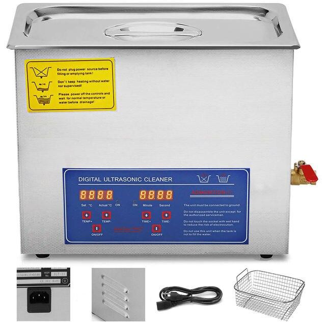 10L Digital Ultrasonic Cleaner Kit Ultra Sonic Bath Timer Jewellery Cleaning