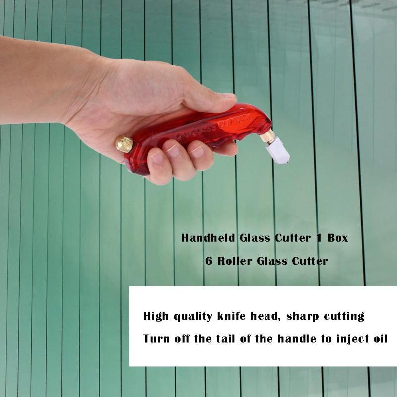 6pcs/box Handheld Sharp Ceramic Tile Cutting Pistol Grip Oil Glass Roller Cutter Single Glass Knife Weight 69g  Random