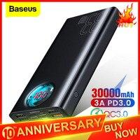 Baseus 30000mAh Power Bank USB C PD Quick Charge 3.0 30000 mAh Powerbank For Xiaomi Mi iPhone Portable External Battery Charger|Power Bank| |  -