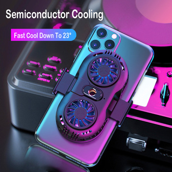Mobile phone cooler 2 Fan Holder Cooling Pad Gamepad Game Gaming Shooter Mute Radiator Controller Heat Sink For iphone xiaomi 1