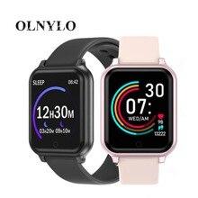 Nouveau B58 montre intelligente hommes femmes fréquence cardiaque horloge de surveillance de la pression artérielle étanche Smartwatch Fitness Tracker pour IOS Android