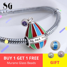 Fit Authentic European Charms Bracelet Silver 925 Original Hot Air Balloon Beads For Women Color Enamel Zircon Fashion Jewelry