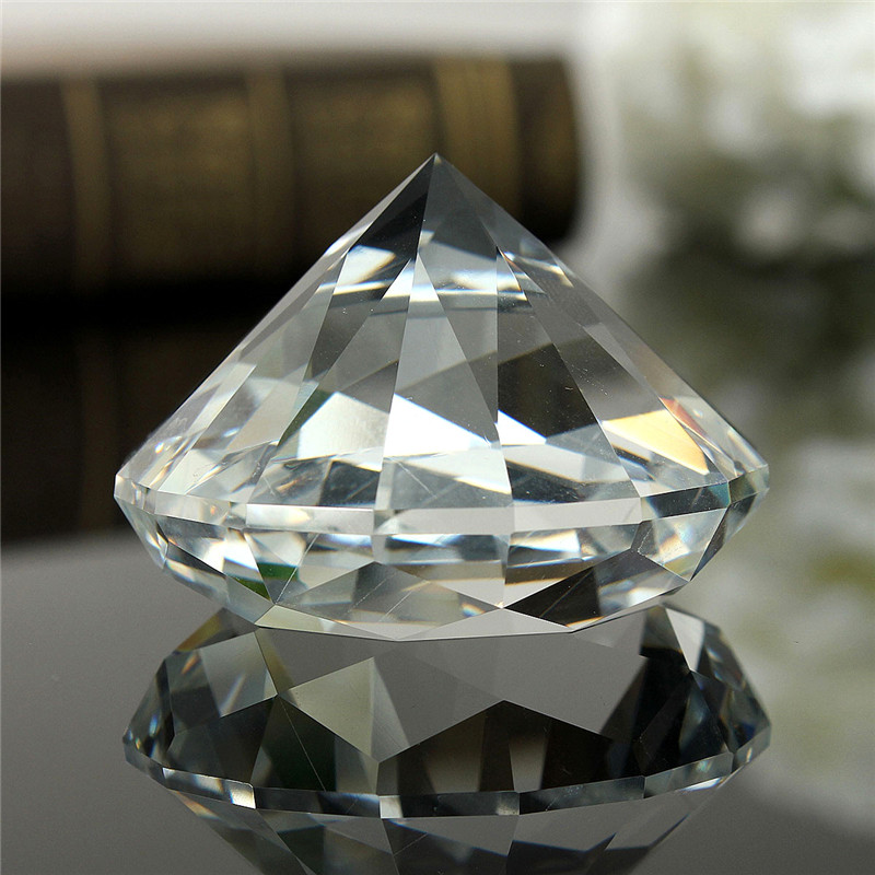 60mm/2.36inch Clear Crystal Diamond Cut Shape Paperweights Crystal Glass Gem Home Display Car Ornaments