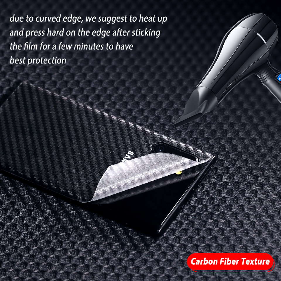 Image 5 - Back Screen Protector for Samsung Galaxy Note 10 10+ Carbon Fiber Sticker for Samsung Note10+ Note 10 Pro Protective Film Cover-in Phone Screen Protectors from Cellphones & Telecommunications