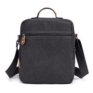 Image 3 - Mini Men Canvas Bag Wear Resistant Fashion Handbag Business Briefcase Crossbody Bags Travel Casual Retro Bags For Male XA508ZC