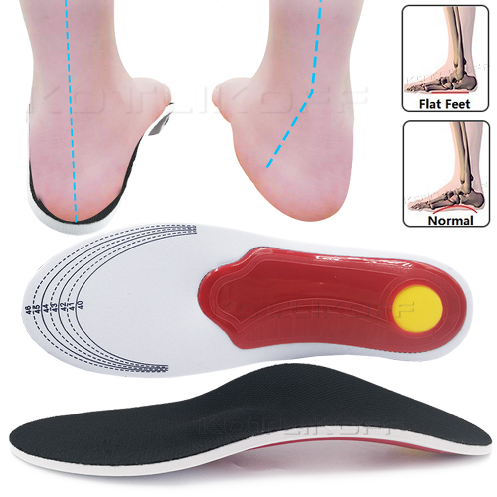 Premium Orthopedic Insoles Flat Feet Shoe Pads Orthopedic Foot Pain Insoles For Shoes Orthotic Gel High Arch Support Insoles
